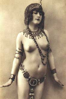Vintage Erotica - Nude Lady in Chains and Jewels