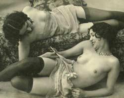 Cute Vintage Topless Women