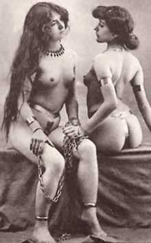 Vintage Sapphic Erotica of Two Women in Chains