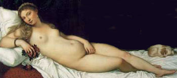 Female Sexuality: Erotic Art Painting of Nude Woman by Titian