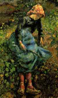 The example of a loving, committed and sexually relaxed mother and father will be the best way of communicating subjective knowledge (beauty, love) of sexuality. (Vardy, 1997)(Painting by Pissaro).