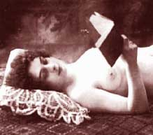 Nude Girl reading a book