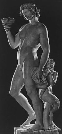 Michelangelo, Bacchus. Statue of Naked Man