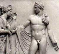 Eroticism of Art: Classic Statue on Naked Man