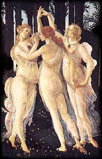 Botticelli - Prima Vera. On the beauty and grace of women