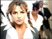 Britney Spears: Picture from the Video to her first single 'Baby One More Time'