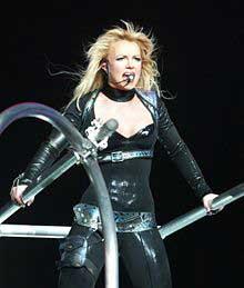 Britney Spears performing in 2004