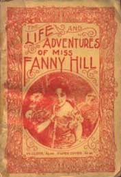 Cover of the banned erotic novel: The Life and Adventures of Miss Fanny Hill