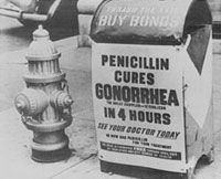 Old Advertising of Penicillin as cure of Gonorrhea