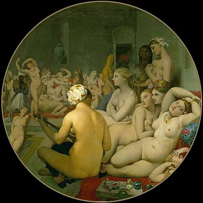 Harem Painting 'Le bain turc' by Ingres