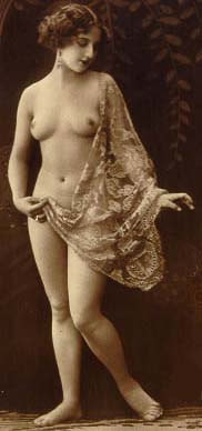 Erotic Woman with Silk drapped over Body