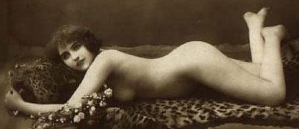 Vintage Nudes - Naked Lady on a Leopard Print Rug