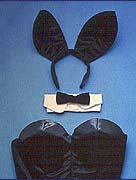 Playboy Bunny Costume: Tail, Cuffs, Collar and Corset