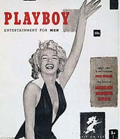Marilyn Monroe: First cover of Playboy Magazine, December 1953