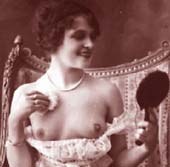 Cheeky Vintage Erotica: Happy Topless Lady